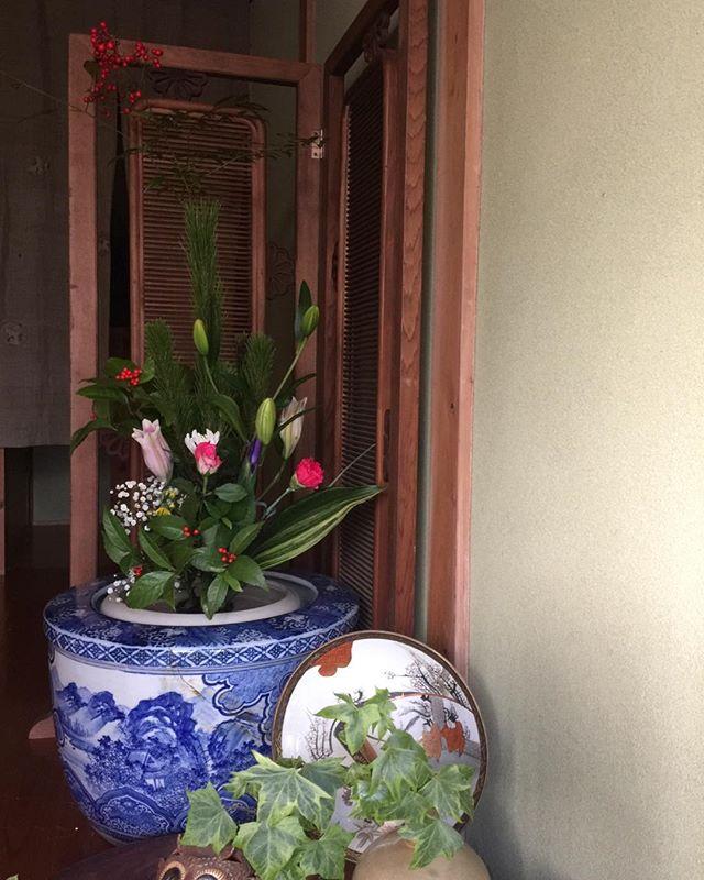 平成31年元旦生け花でお祝い