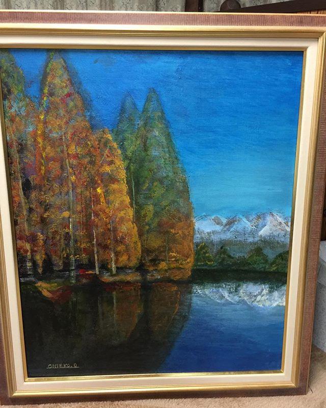 秋の作品展に出す絵出来上がりました